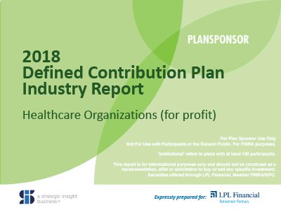 Cover of 2018 industry report for for-profit Healthcare